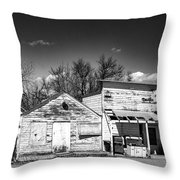 Main Street In Fort Shaw, Montana Throw Pillow