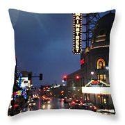 Main Street Kansas City Throw Pillow