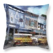 Main Street Mackinac Island Michigan Pa 04 Throw Pillow