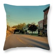 Main Street - Old Forge New York Throw Pillow