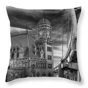 Main Street Station Nw B W Throw Pillow by Jemmy Archer