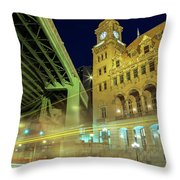 Main Street Station-vertical Throw Pillow