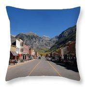 Main Street Telluride Throw Pillow