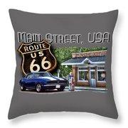 Main Street, Usa Camaro Throw Pillow