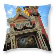 Main Street Usa Fire Department Throw Pillow