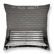 Main Street Usa Throw Pillow