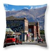 Main Town Street Throw Pillow