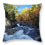 maine 38 Baxter State Park South Branch Stream Throw Pillow