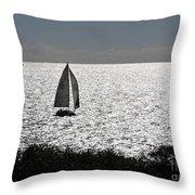 maine 44 Sailboat Throw Pillow