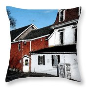 Maine Blue Hill Alleyway Throw Pillow