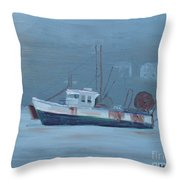 Maine Boat 2 Throw Pillow