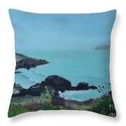Maine Coast 1 Throw Pillow