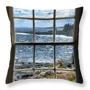 Maine Coast Picture Frame Throw Pillow