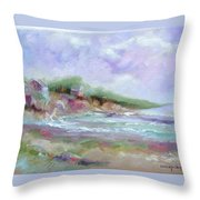 Maine Coastline Throw Pillow