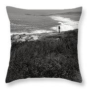 Maine Contemplation Throw Pillow