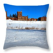 Maine Criminal Justice Academy In Winter Throw Pillow