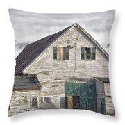 Maine Farm Barn Throw Pillow