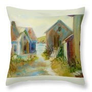 Maine Island Throw Pillow