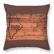 Maine Map Brand Throw Pillow