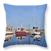 Maine Marina Evening Throw Pillow
