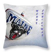 Maine Merry Christmas Throw Pillow