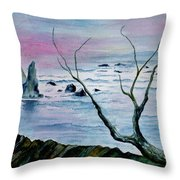 Maine Seawatch Throw Pillow