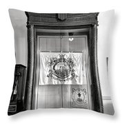 Maine State Capitol Hall Of Flags Militia Display Case Throw Pillow
