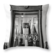 Maine State Capitol Hall Of Flags Modern Conflicts Display Case Throw Pillow