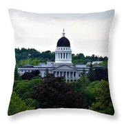 Maine State House Throw Pillow