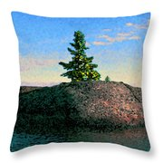 Maine Stone Island Sunrise Throw Pillow
