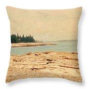 Maine Summer Throw Pillow