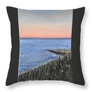 Maine Sunset Throw Pillow
