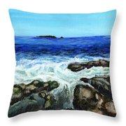 Maine Tidal Pool Throw Pillow
