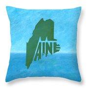 Maine Wordplay Throw Pillow
