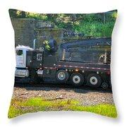 Maintenance Truck Throw Pillow