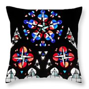 Mainz Cathedral Window Throw Pillow