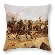 Maiwand Throw Pillow by Richard Caton II Woodville