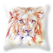 Majestic African Lion Throw Pillow