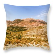 Majestic Arid Peaks Throw Pillow
