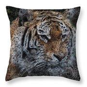 Majestic Bengal Tiger Throw Pillow