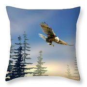 Majestic Eagle Throw Pillow