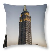 Majestic Empire State Bldg  N Y C Throw Pillow