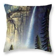 Majestic Falls Throw Pillow