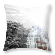 Majestic Falls Selective Color Throw Pillow