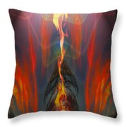 Majestic Fire Throw Pillow