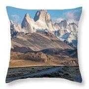 Majestic Fitz Roy Throw Pillow