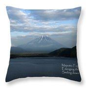 Majestic Fuji - Haiku Throw Pillow