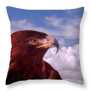 Majestic Golden Eagle Throw Pillow