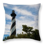 Majestic Hatteras Lighthouse Throw Pillow