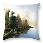 Majestic Light - Eagle Throw Pillow